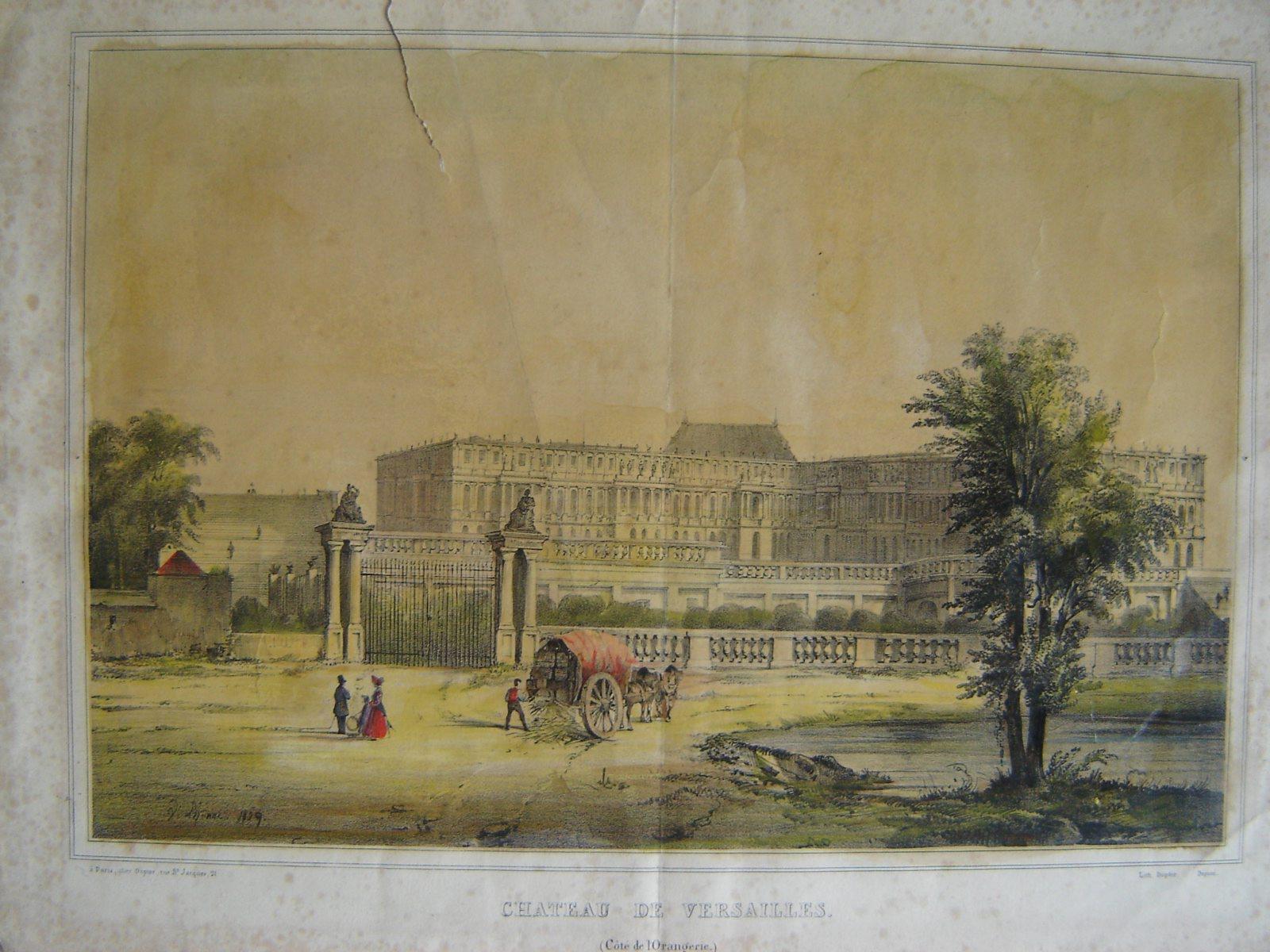Le château de Versailles côté de l'Orangerie_0