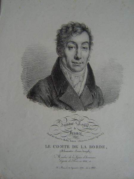 Le Comte de la Borde Alexandre Louis Joseph