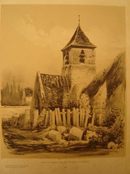 HUBERT Edouard : Eglise en ruines vers 1844 (factice)