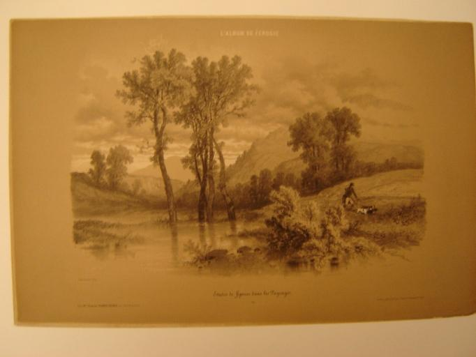 FEROGIO François Fortuné Antoine : Etude de figures dans les paysages; n° 21