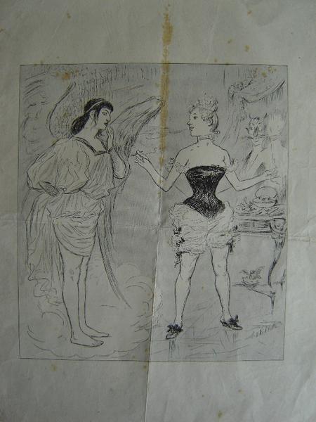 WILLETTE Adolphe Léon : Leçon de séduction (sous réserve)