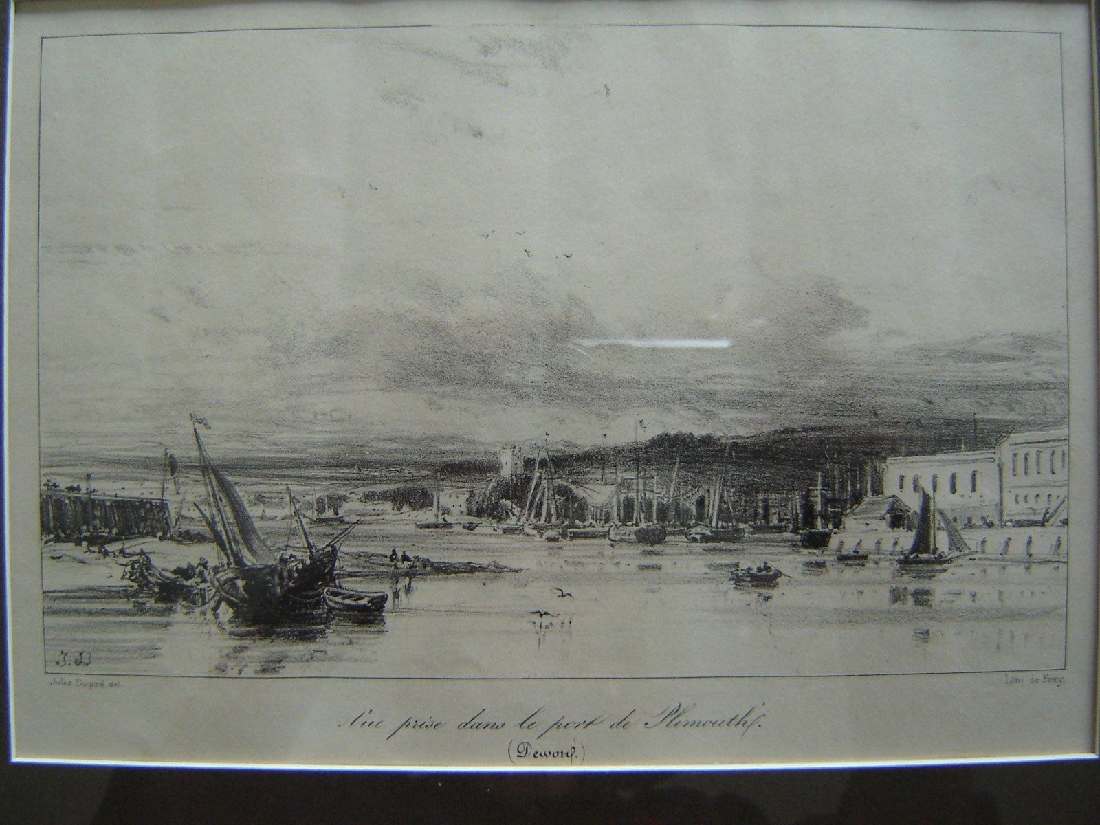 Vue prise dans le port de Plymouth (Devonshire)_0