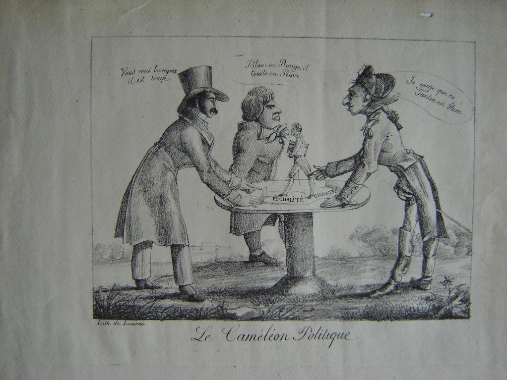 Le Caméléon Politique (caricature anti-royaliste contre la Charte (Restauration))_0