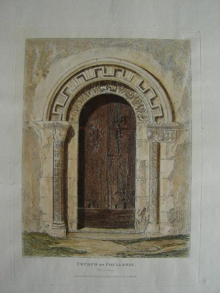 Church of Foullebec (near Pont Audemer Eure) west door way_0