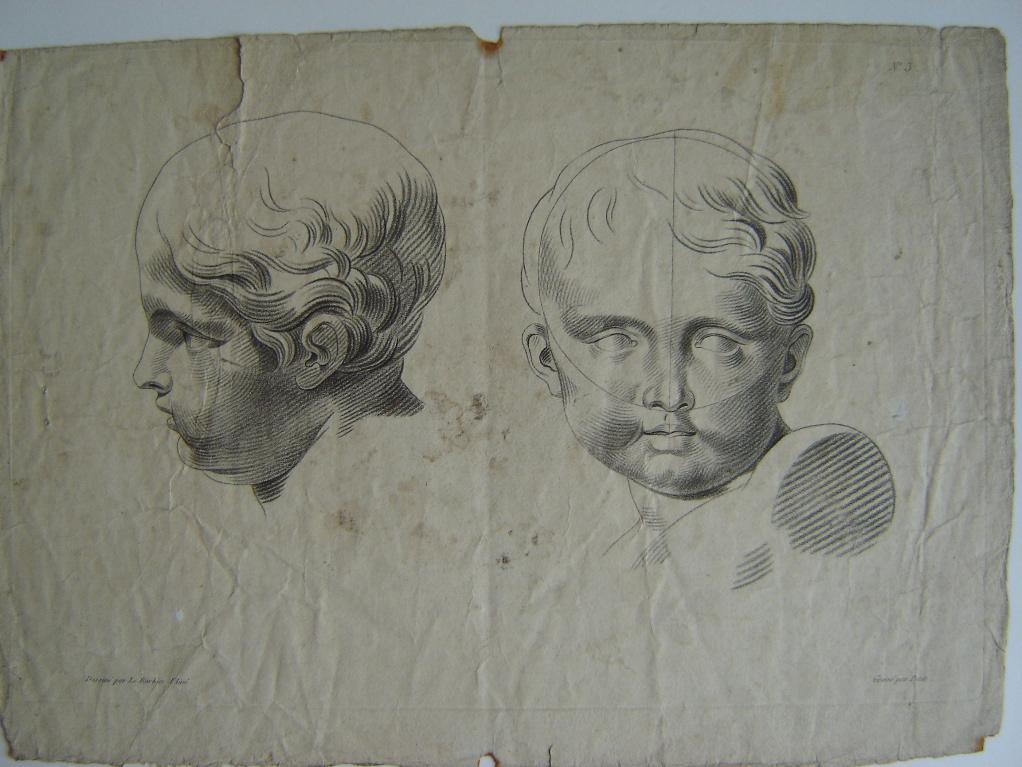 Etude de tête d'enfant, face et profil (recto verso)_0