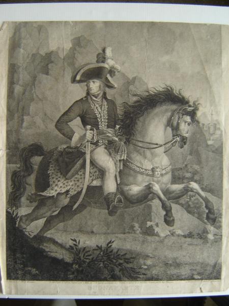 TASSAERT Jean François Joseph, HENNEQUIN Philippe Auguste (d'après) : Buonaparte à cheval en grande tenue