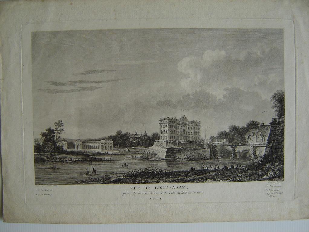 Vue de l'Isle-Adam, prise du bas des Terrasses du Parc en face du château_0