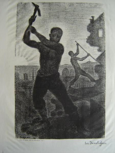 SIGNAC Paul, GRAVE Jean (imprimeur) : Les démolisseurs