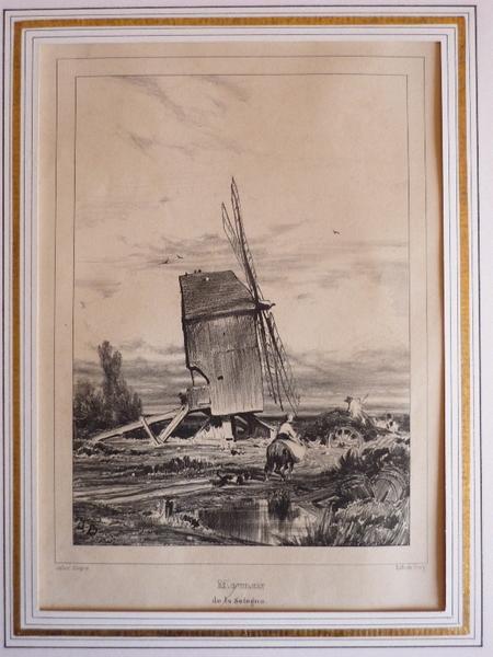 DUPRE Jules, FREY Georges (lithographe) : Moulin de Sologne