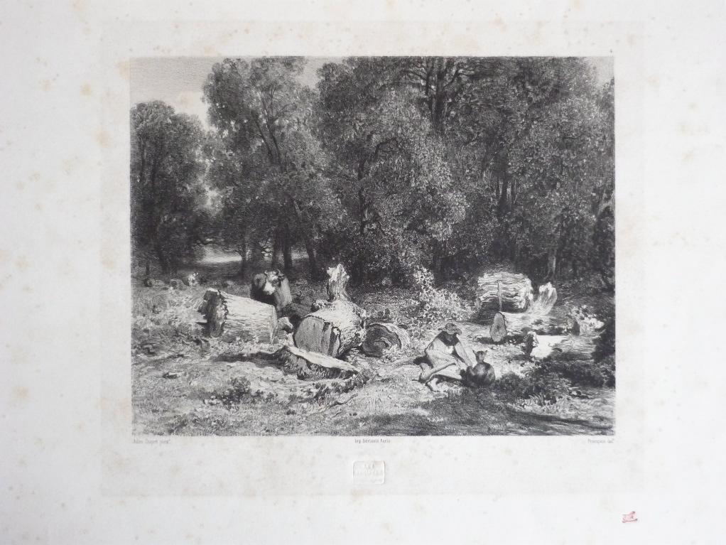 FRANCAIS François Louis (graveur), DUPRE Jules (d'après) : Le pâtre dans la clairière