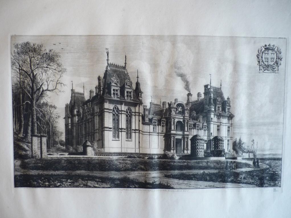 ROCHEBRUNE Octave Guillaume de : Entrée principale du château d'Ecouen sous Louis XIV