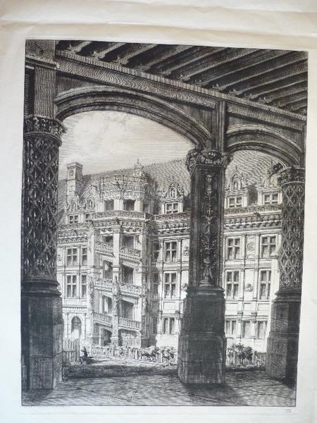 Cour et escalier du château de Blois (factice)_0
