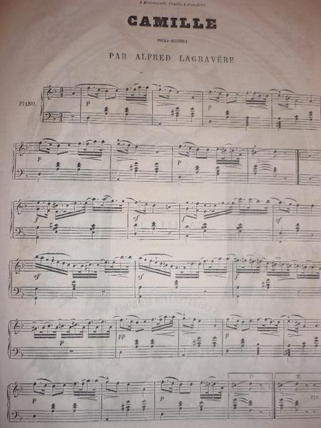 Camille, polka mazurka par Alfred Lagravère