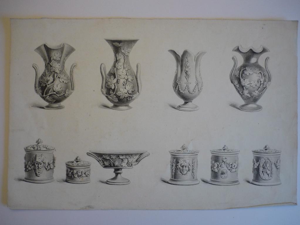 Planche modèle (Pots en céramique)