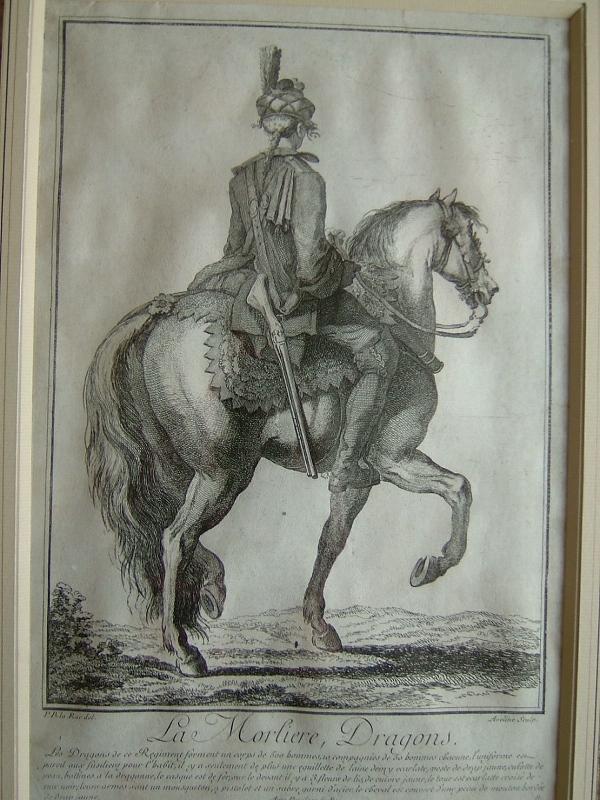 AVELINE, LARUE Philibert Benoît de l'Aîné (d'après) : La Morlière, dragons