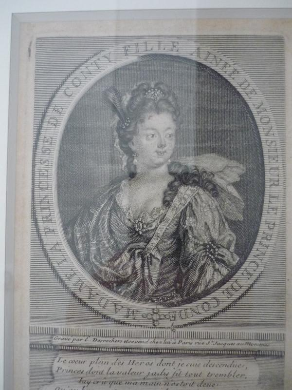 DESROCHERS Etienne Jehandier (graveur) : Marie Thérèse de Bourbon (1666-1732) princesse de Conti
