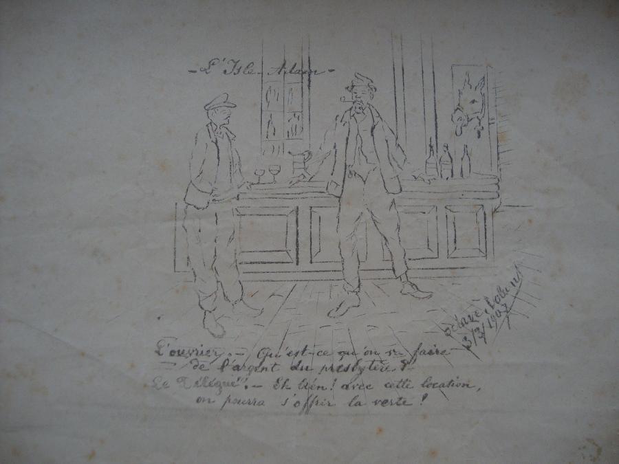 L'ouvrier et le délégué (factice)