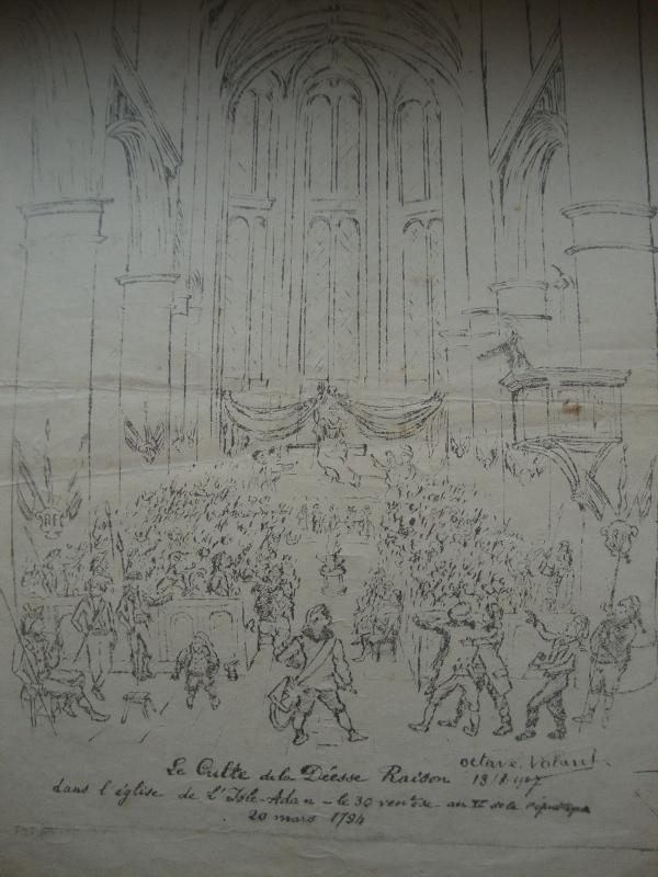 Le Culte de la Déesse Raison dans l'église de l'Isle Adam le 30 ventôse an II de la république 20 mars 1794_0