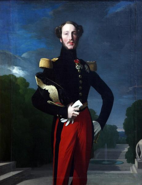 INGRES Jean Auguste Dominique (atelier) : Portrait de Ferdinand Philippe, duc d'Orléans