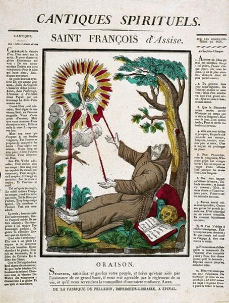 CANTIQUES SPIRITUELS. / SAINT FRANCOIS d'Assise. (titre inscrit)