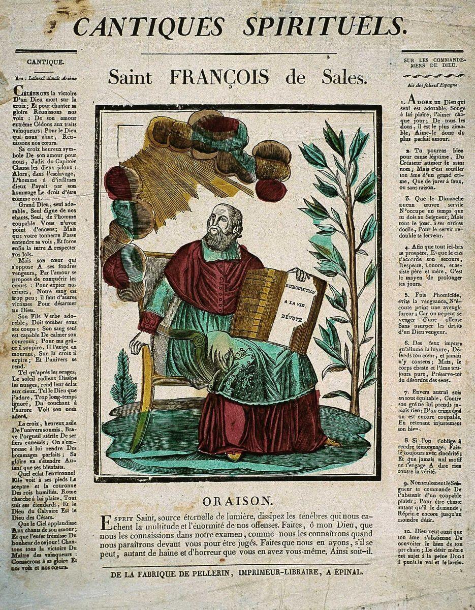 CANTIQUES SPIRITUELS. / Saint FRANCOIS de Sales. (titre inscrit)_0