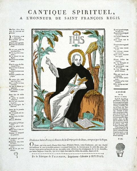 CANTIQUE SPIRITUEL, / A L'HONNEUR DE SAINT FRANCOIS REGIS. (titre inscrit)_0