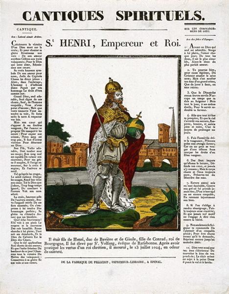 CANTIQUES SPIRITUELS. / St. HENRI, Empereur et Roi. (titre inscrit)