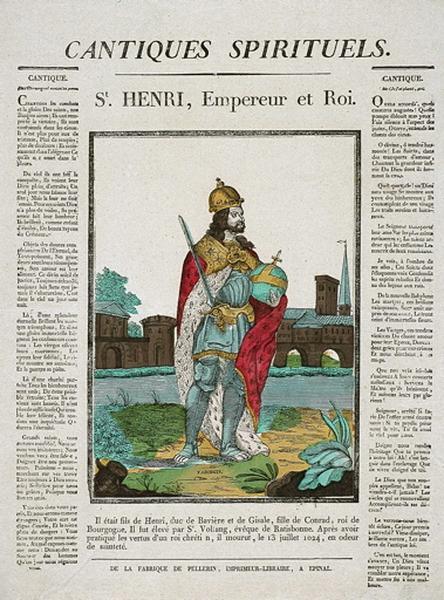 CANTIQUES SPIRITUELS. / St. HENRI, Empereur et Roi. (titre inscrit)_0