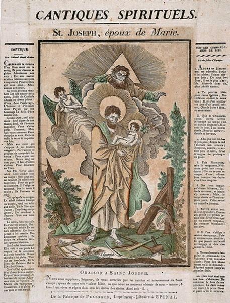 CANTIQUES SPIRITUELS. / St. JOSEPH, époux de Marie. (titre inscrit)