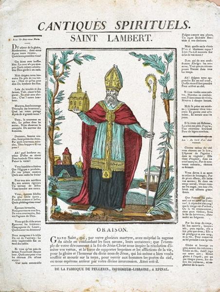 CANTIQUES SPIRITUELS. / SAINT LAMBERT. (titre inscrit)_0