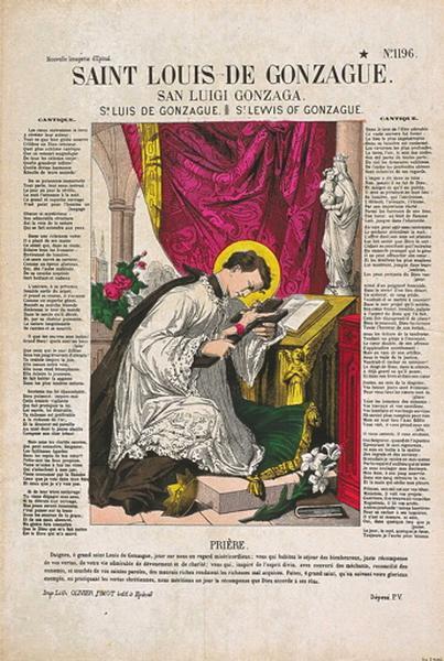 SAINT LOUIS DE GONZAGUE. N°1196. (titre inscrit fr., it., esp., angl.)_0