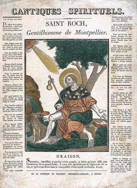 CANTIQUES SPIRITUELS. / SAINT ROCH, Gentilhomme de Montpellier. (titre inscrit)_0