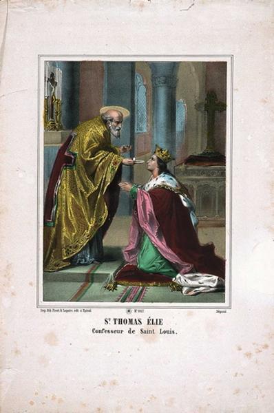 St. THOMAS ELIE / Confesseur de Saint Louis. N°267. (titre inscrit)