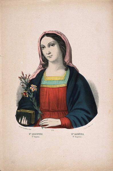 Ste. AUGUSTINE.N.°3. (titre inscrit fr., esp., it., all.)_0