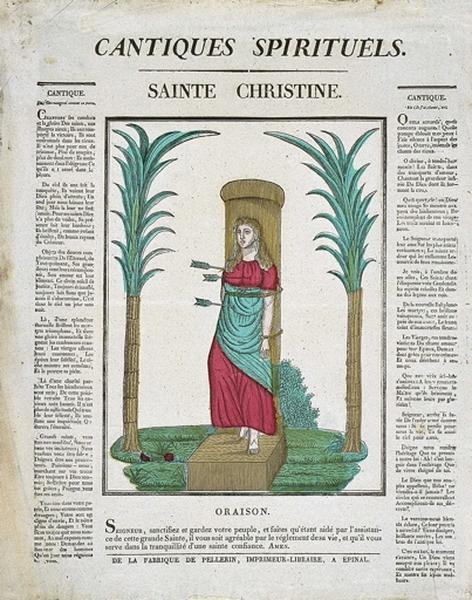 CANTIQUES SPIRITUELS. / SAINTE CHRISTINE. (titre inscrit)_0