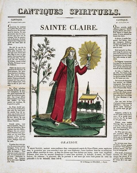 CANTIQUES SPIRITUELS. / SAINTE CLAIRE. (titre inscrit)
