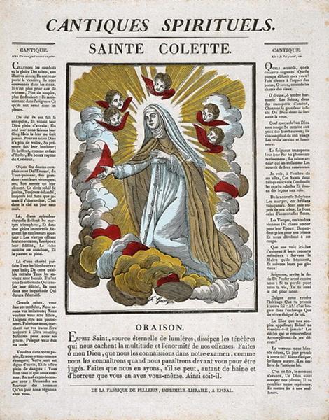 CANTIQUES SPIRITUELS. / SAINTE COLETTE. (titre inscrit)_0