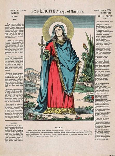 Ste. FELICITE, Vierge et Martyre. (titre inscrit)_0