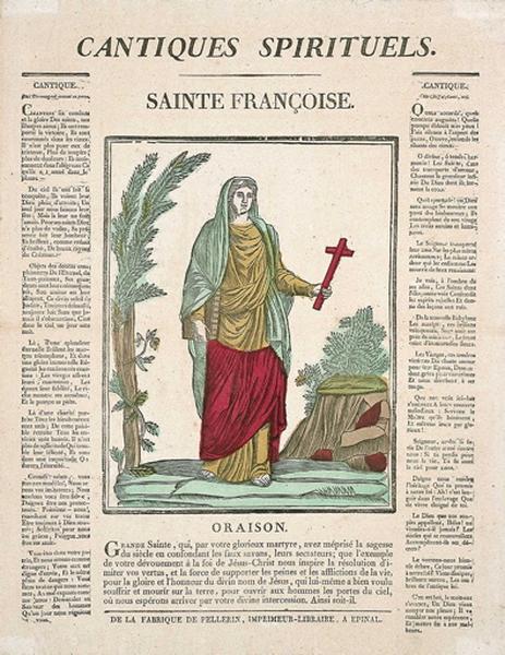 CANTIQUES SPIRITUELS. / SAINTE FRANCOISE. (titre inscrit)_0