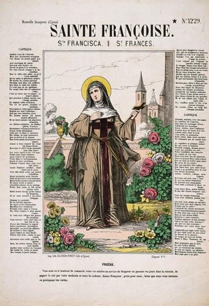 SAINTE FRANCOISE. N°.1229. (titre inscrit fr., esp., angl.)