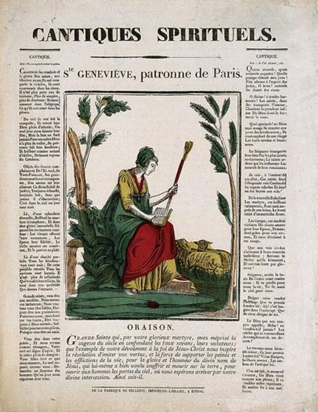 CANTIQUES SPIRITUELS. / Ste GENEVIEVE, patronne de Paris. (titre inscrit)_0