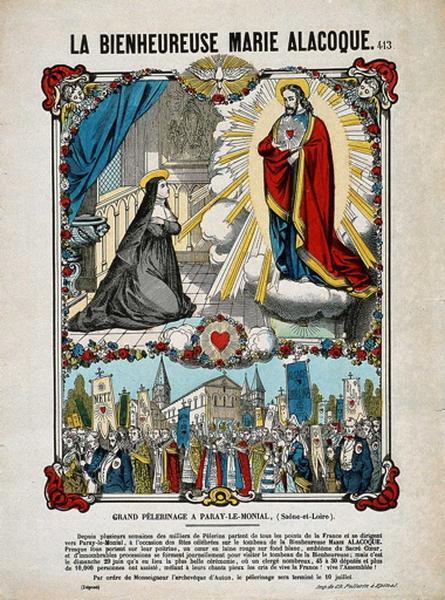 LA BIENHEUREUSE MARIE ALACOQUE. 413. (titre inscrit)_0