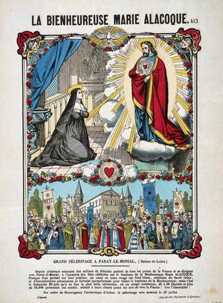 LA BIENHEUREUSE MARIE ALACOQUE. 413. (titre inscrit)