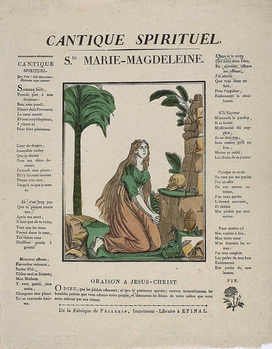 CANTIQUE SPIRITUEL. / Ste. MARIE-MAGDELEINE. (titre inscrit)_0
