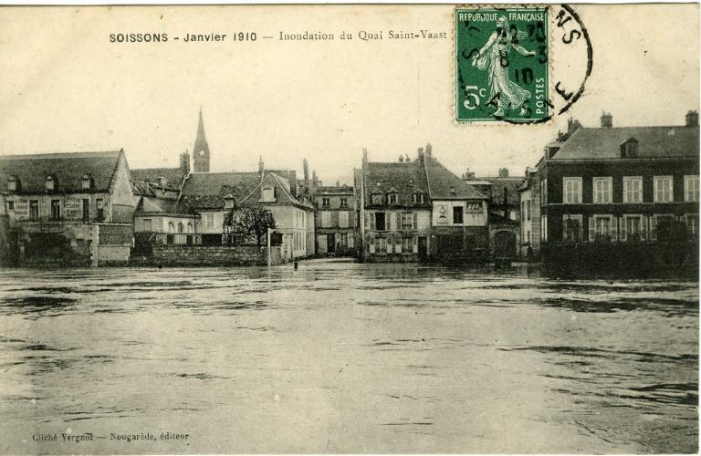 Soissons - Inondation du quai Saint-Vaast (Saint-Waast)_0