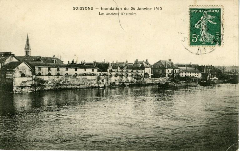 Soissons - Inondation du 24 janvier 1910 - Les anciens abattoirs_0