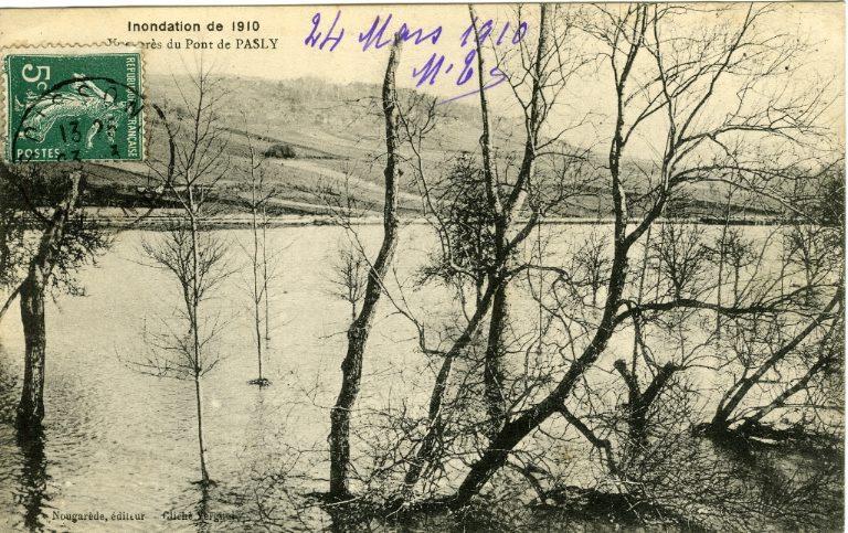 Soissons - Inondation de 1910 - Vue prés du pont de Pasly_0
