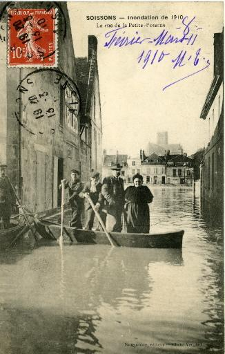 Soissons - Inondation de 1910 - La rue de la petite poterne_0