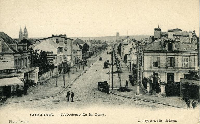Soissons - L'avenue de la gare_0