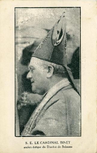 S.E. Le cardinal Binet ancien évêque du diocèse de Soissons